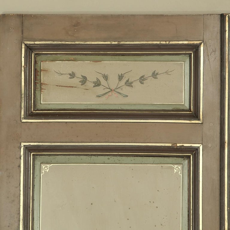 Pair of 19th Century French Hand Painted Paneled Interior Doors For Sale 8