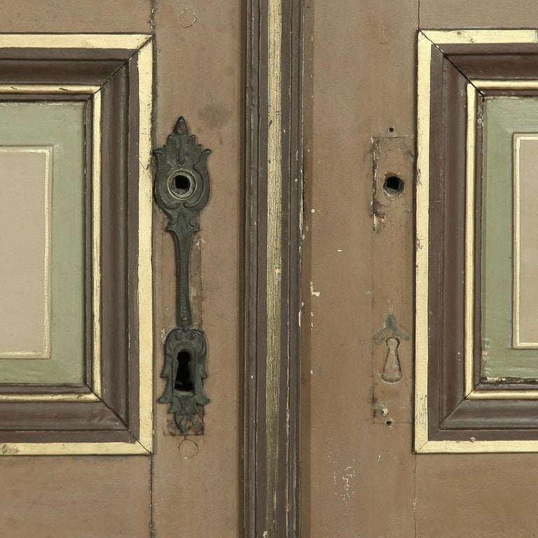 Pair of 19th Century French Hand Painted Paneled Interior Doors For Sale 9