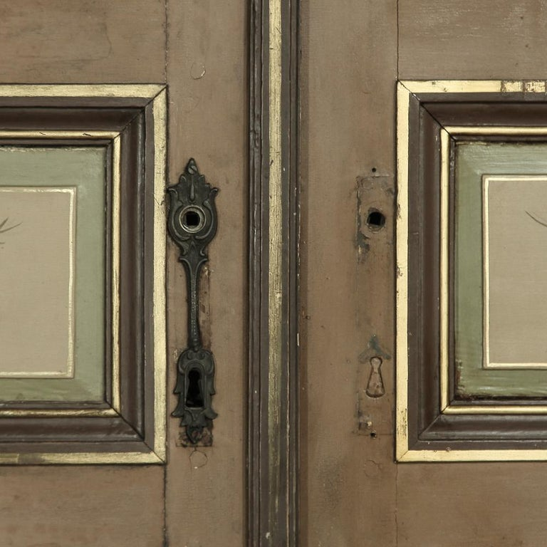 Pair of 19th Century French Hand Painted Paneled Interior Doors For Sale 10
