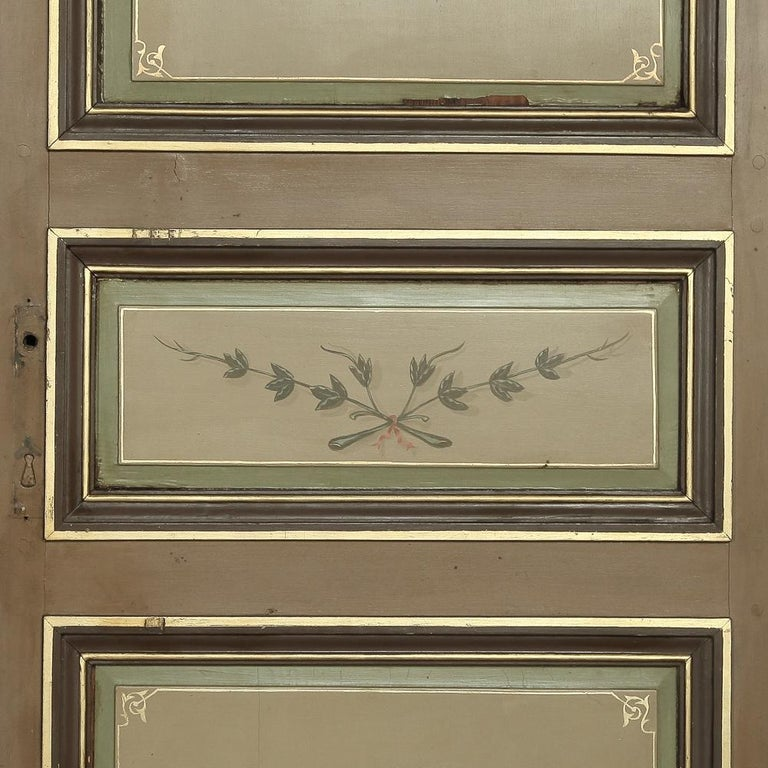 Pair of 19th Century French Hand Painted Paneled Interior Doors For Sale 4