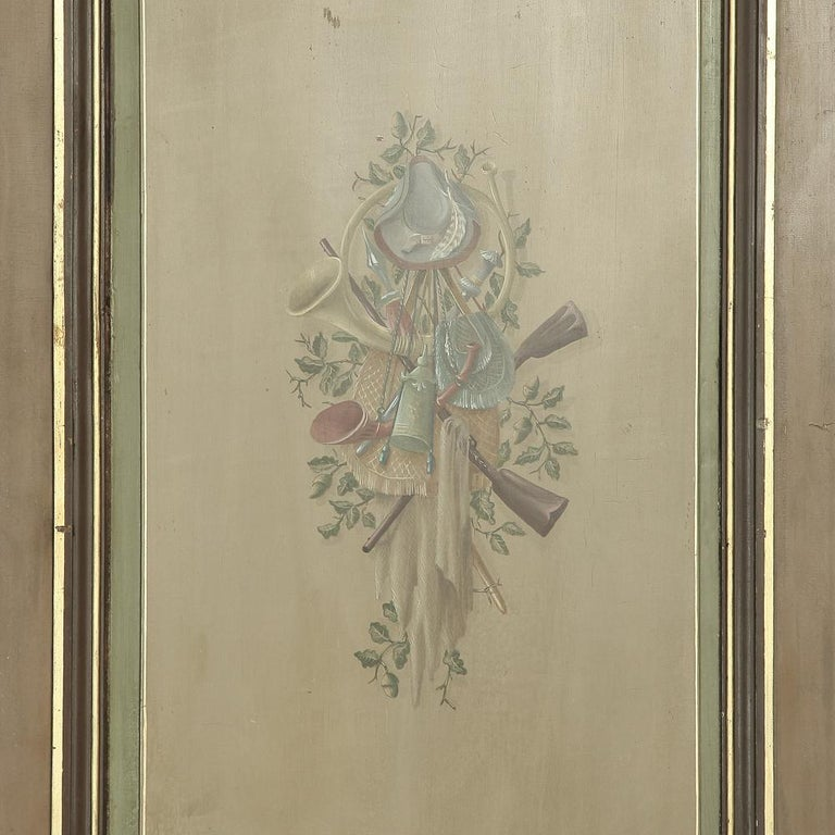 Pair of 19th Century French Hand Painted Paneled Interior Doors For Sale 5