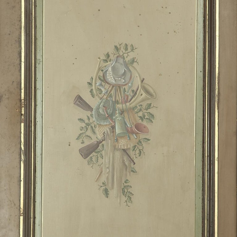 Pair of 19th Century French Hand Painted Paneled Interior Doors For Sale 6