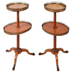 Pair 19th Century Inlaid Side Tables, After Donald Ross
