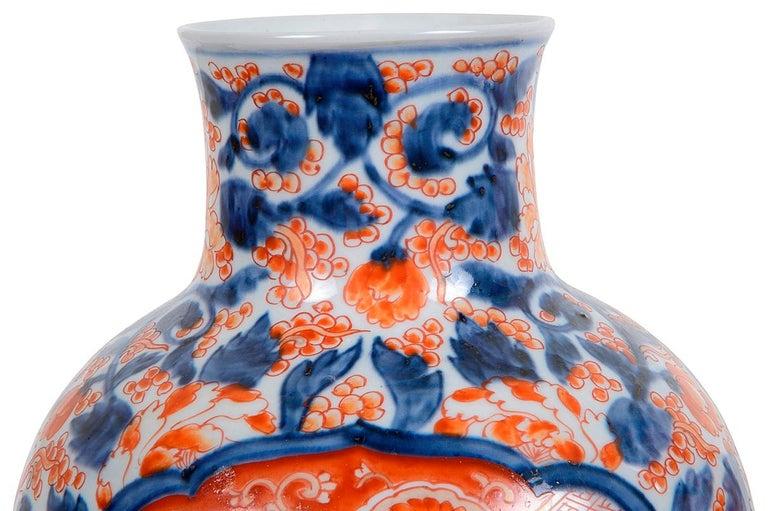 Pair 19th Century Japanese Imari Vases / Lamps In Good Condition For Sale In Brighton, Sussex