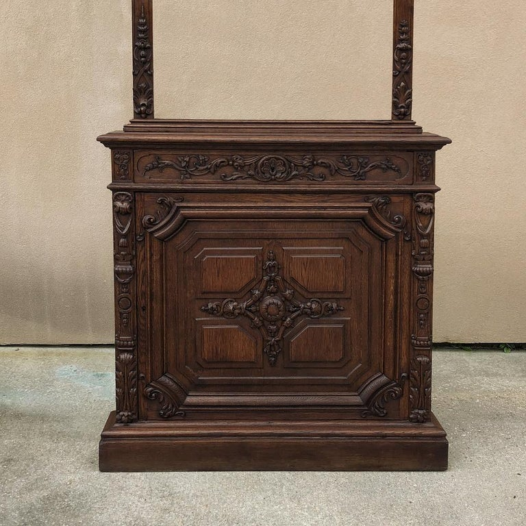 Pair of 19th Century Library, Bookcase Built-In Cabinets For Sale 5