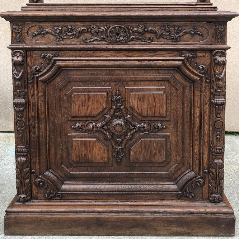 Pair of 19th Century Library, Bookcase Built-In Cabinets For Sale 7