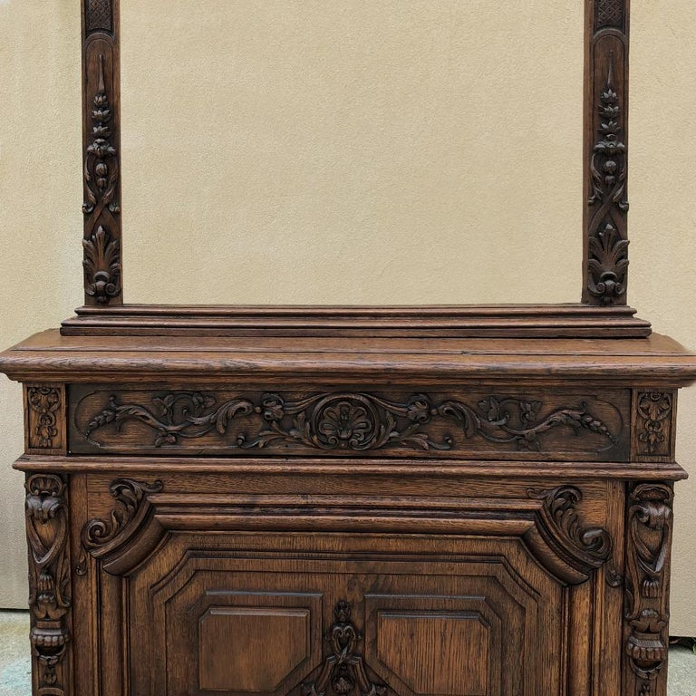 French Pair of 19th Century Library, Bookcase Built-In Cabinets For Sale