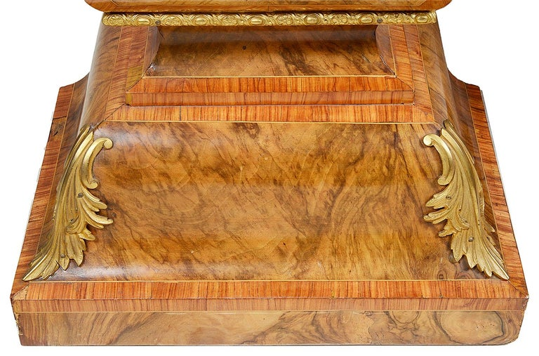 English Pair of 19th Century Marquetry Pedestals For Sale