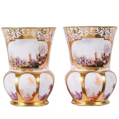 Pair of 19th Century Meissen Vases