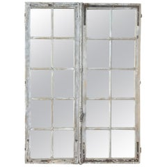 Pair of 19th Century Mirrored Window Frames