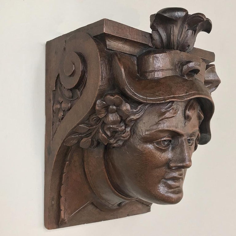 Pair of 19th Century Renaissance Wall Sconces, Corbels For Sale 2