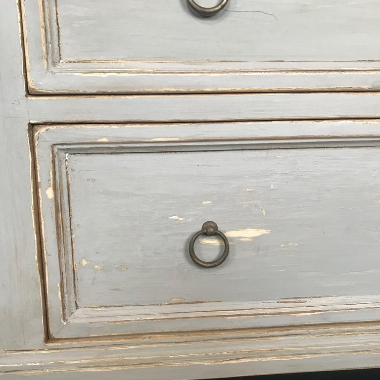 Pair 19th Century Swedish Gustavian Painted Wood Chests on Tapered Legs For Sale 16
