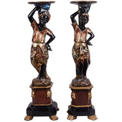 Pair of 19th Century Venetian Blackamoor Figures