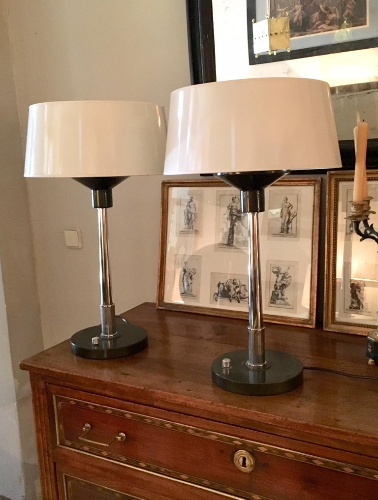 Pair 20th Century Deco Table Lamps For Sale 4