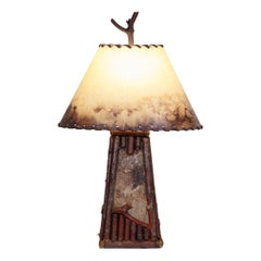 Pair of Adirondack Riverfront Table Lamps