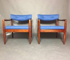Pair Adrian Pearsall Upholstered Lounge Chairs, USA 1960s