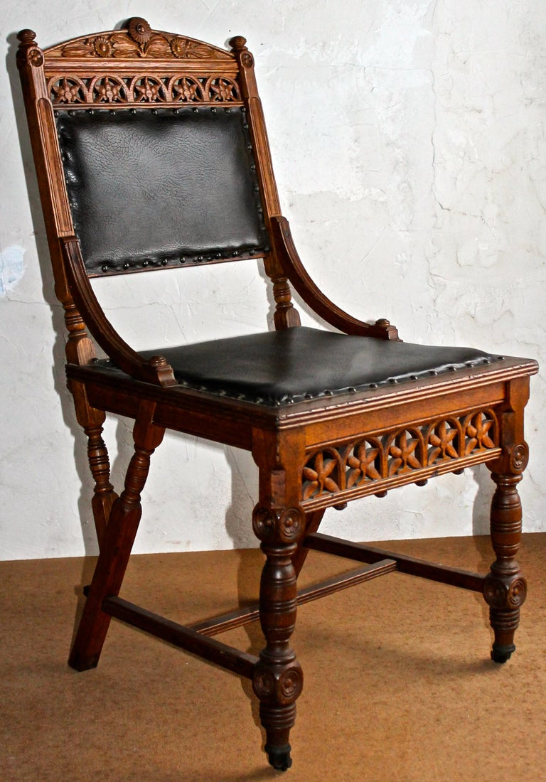 American Pair Aesthetic Movement Chairs Herter Bros. 'Attributed' For Sale