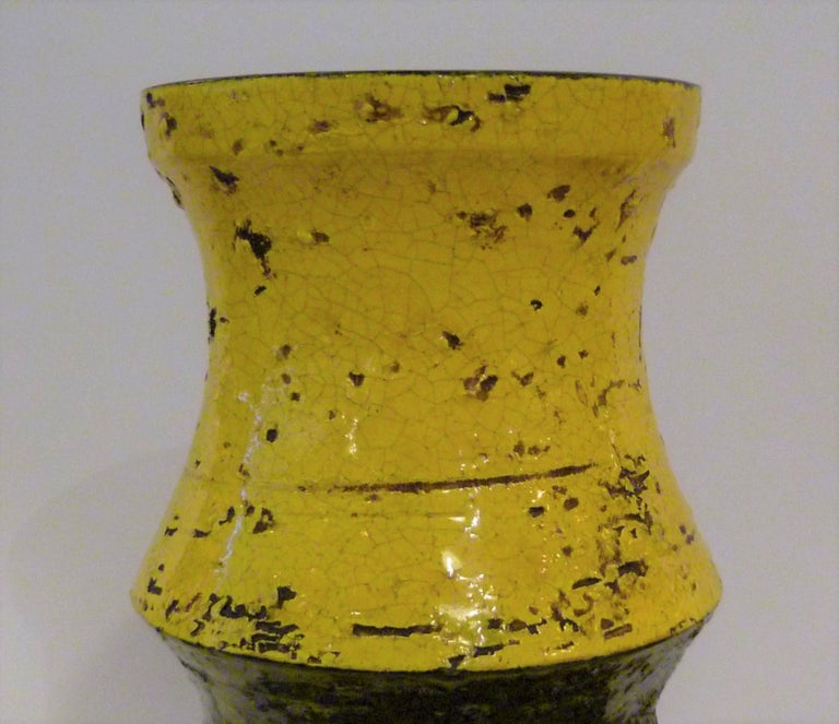 Glazed Pair of Aldo Londi for Bitossi Modern Pottery Vases Rosenthal Netter Italy 1960s