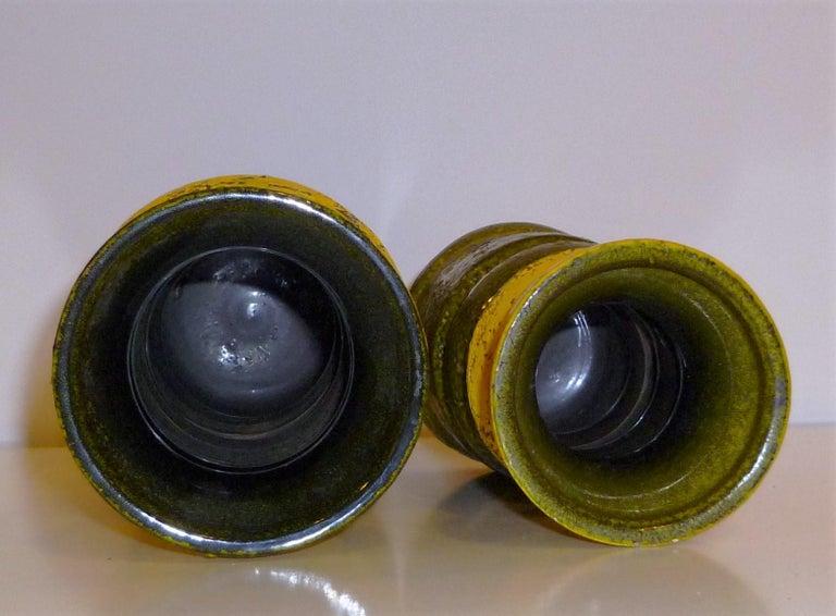 Ceramic Pair of Aldo Londi for Bitossi Modern Pottery Vases Rosenthal Netter Italy 1960s