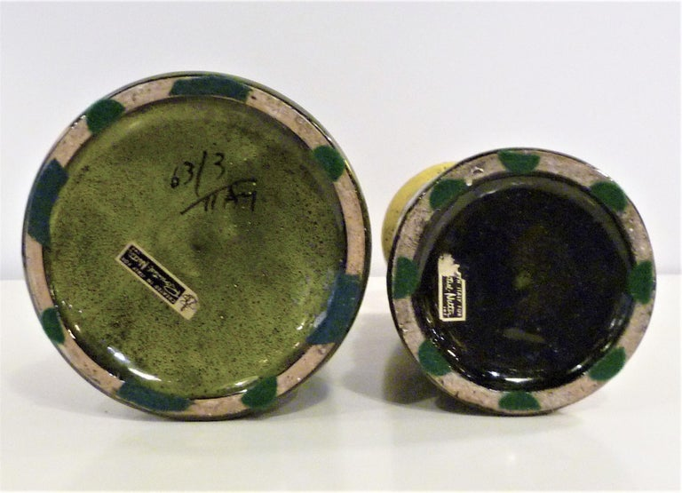 Pair of Aldo Londi for Bitossi Modern Pottery Vases Rosenthal Netter Italy 1960s 1