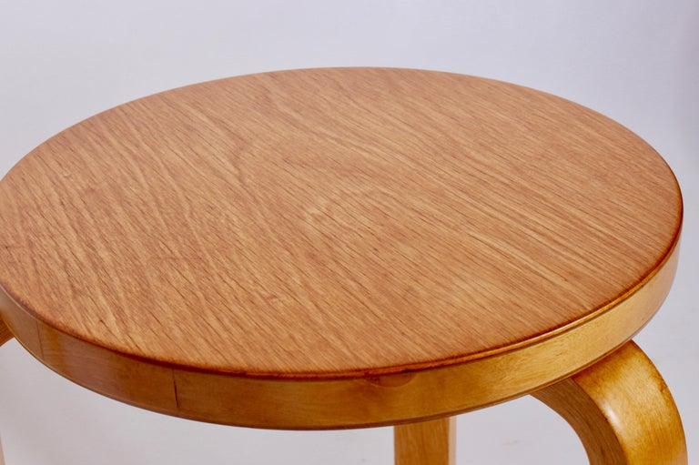 Mid-20th Century Pair of Alvar Aalto Finsven #60 Stacking Stools, 1930s For Sale