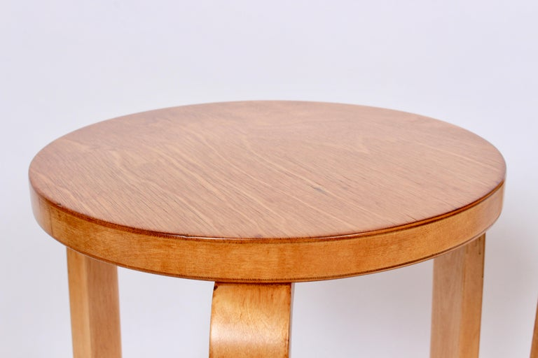 Beech Pair of Alvar Aalto Finsven #60 Stacking Stools, 1930s For Sale