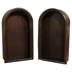 Pair Antique Arched Architectural Niches