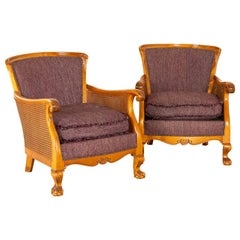 Pair, Antique Armchairs, Sweden, circa 1920-1940