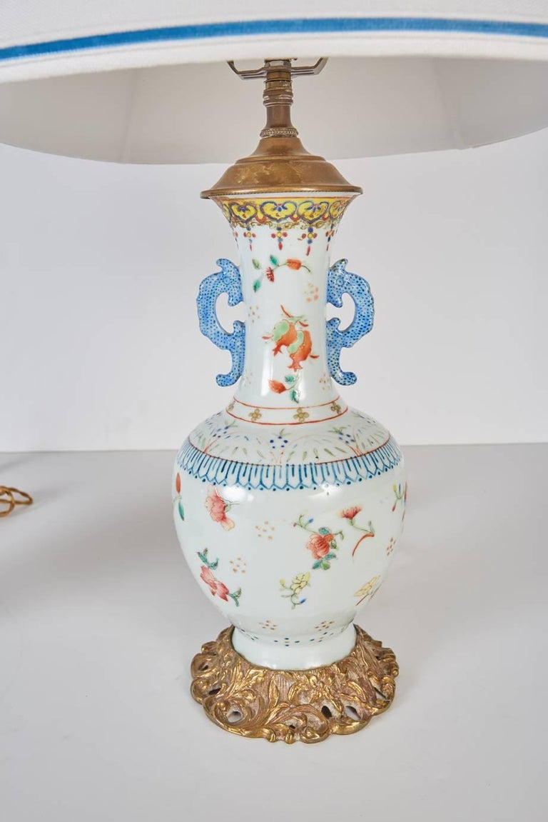 Pair of antique chinese porcelain vases mounted as lamps for sale chinese export pair of antique chinese porcelain vases mounted as lamps for sale floridaeventfo Choice Image