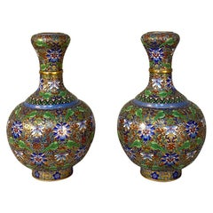 Pair of Antique Cloisonné Vases