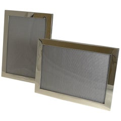 Pair of Antique English Sterling Silver 2-Way Photograph/Picture Frame, 1914