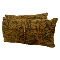 "Pair Antique Fortuny ""Melagrana"" Pillows, circa 1920"