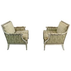 Pair of Antique French Louis XVI Painted Sofas
