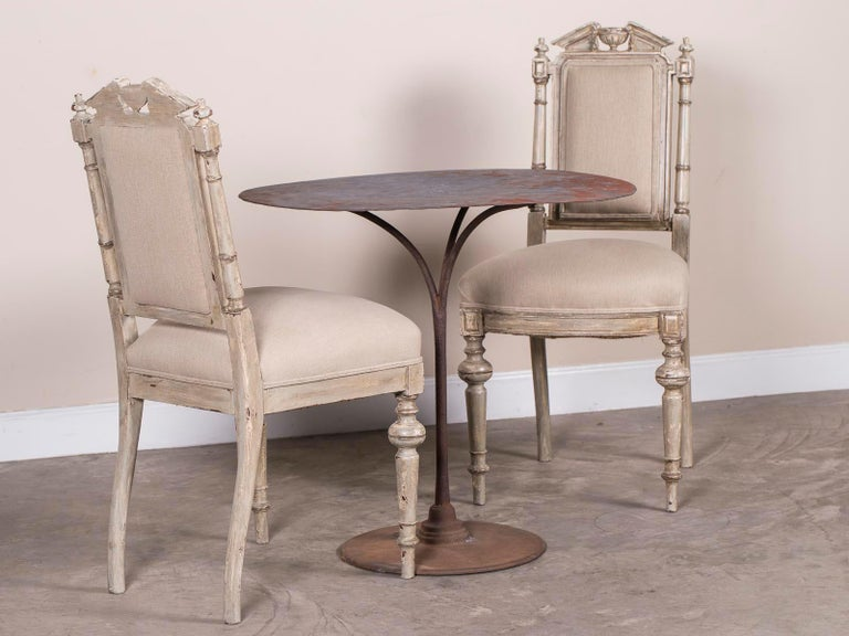 Hand-Crafted Pair of Antique French Napoleon III Period Painted Chairs, circa 1870 For Sale