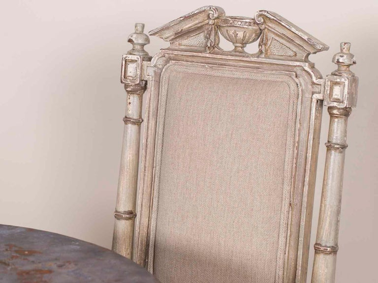 Pair of Antique French Napoleon III Period Painted Chairs, circa 1870 In Good Condition For Sale In Houston, TX