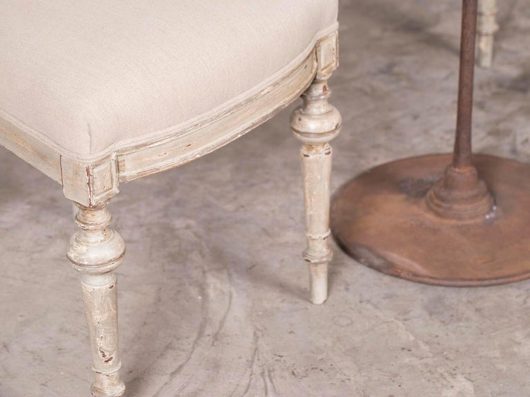 Wood Pair of Antique French Napoleon III Period Painted Chairs, circa 1870 For Sale