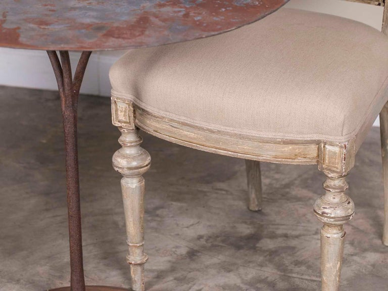 Pair of Antique French Napoleon III Period Painted Chairs, circa 1870 For Sale 2