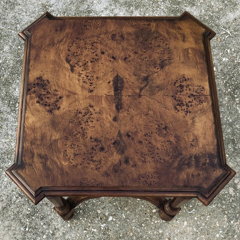 Pair of Antique Italian Walnut End Tables For Sale 4