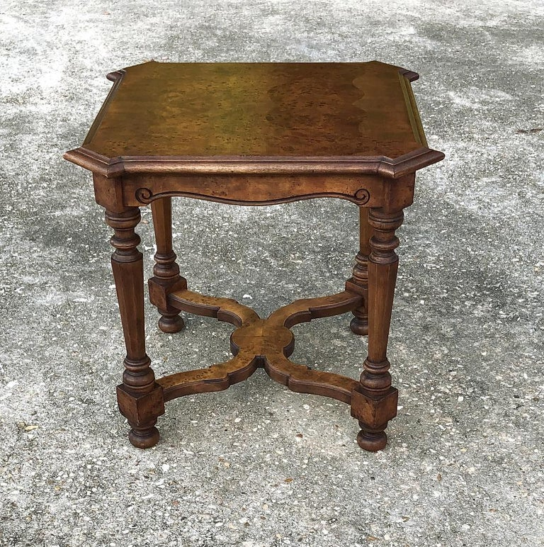 Hand-Crafted Pair of Antique Italian Walnut End Tables For Sale