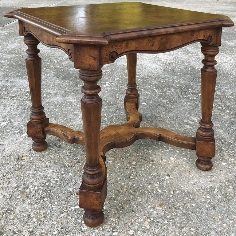 Pair of Antique Italian Walnut End Tables For Sale 1