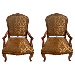 Pair of Antique Large Size French Armchairs, circa 1880