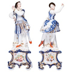 Pair of Antique Old Paris Porcelain Figurines
