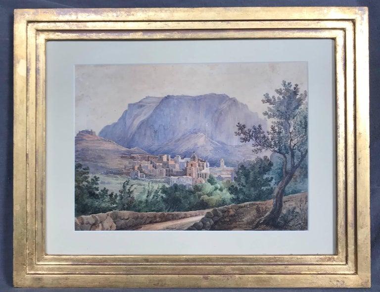 Romantic Pair Antique Views of Capri For Sale