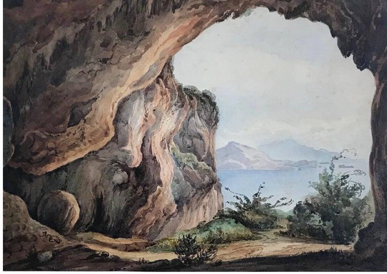 Italian Pair Antique Views of Capri For Sale