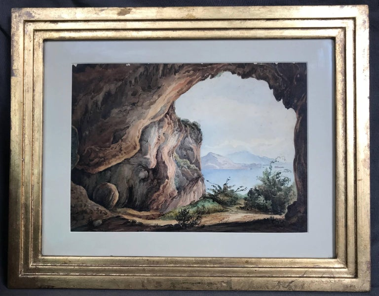 Pair Antique Views of Capri In Good Condition For Sale In New York, NY