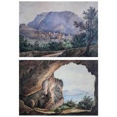 Pair Antique Views of Capri