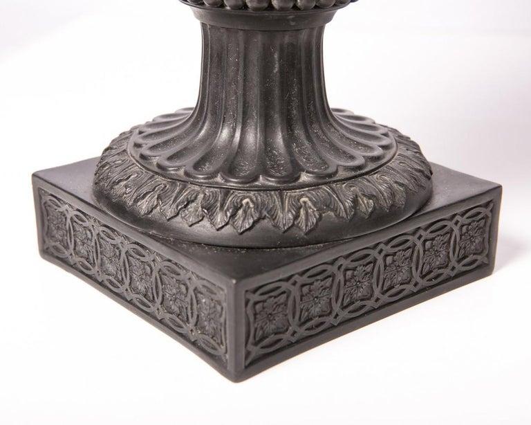 Pair of Antique Wedgwood Black Basalt Ewers For Sale 3