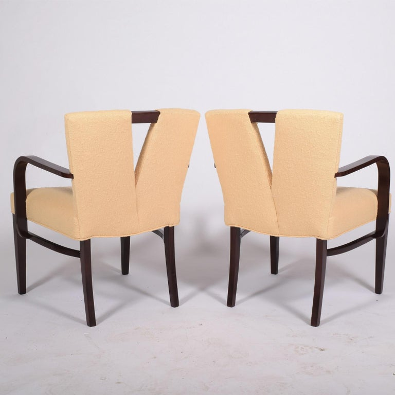 American Pair of Armchairs by Paul Frankl for Johnson Furniture For Sale
