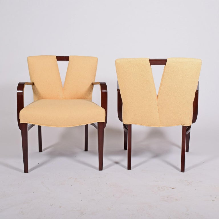 Pair of Armchairs by Paul Frankl for Johnson Furniture In Good Condition For Sale In Dallas, TX