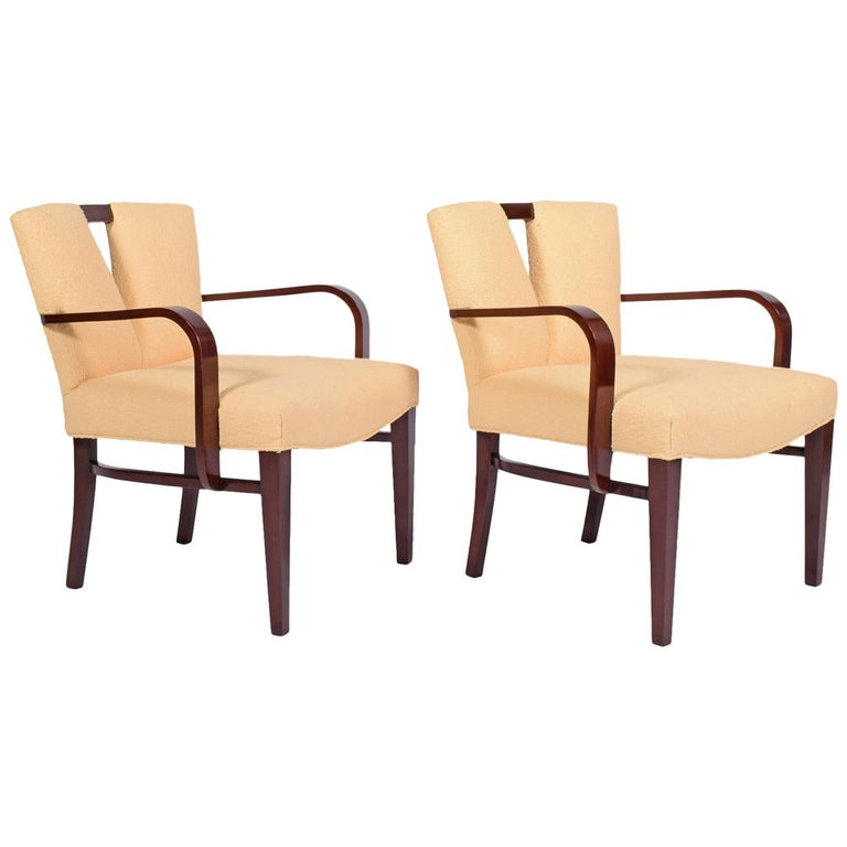 Pair of Armchairs by Paul Frankl for Johnson Furniture For Sale